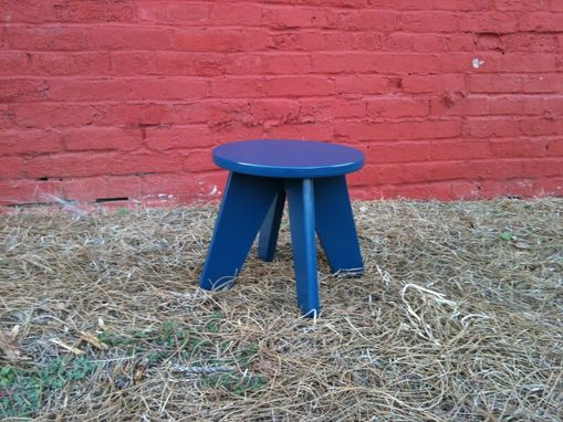 Custom Made Kids Play Stool In Federal Blue