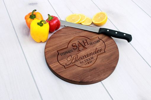 Custom Made Personalized Cutting Board, Engraved Cutting Board, Custom Wedding Gift – Cbr-Wal-Alexander