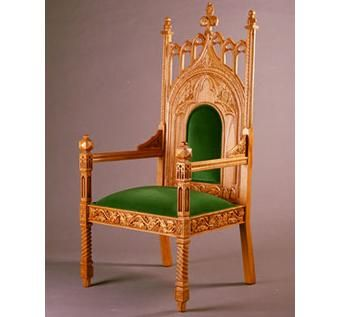 Custom Made Gothic,14 Century Oak Armchair