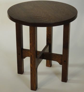 Custom Made Mission Style Tabouret