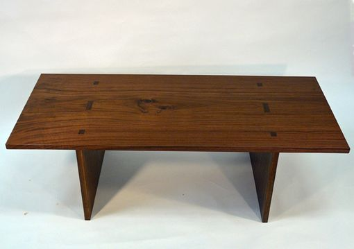 Custom Made Walnut Plank Coffee Table