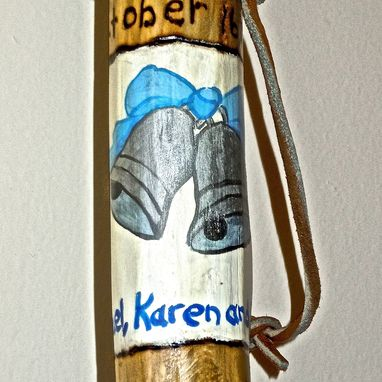 Custom Made Commorative   Hand Painted Hiking Stick