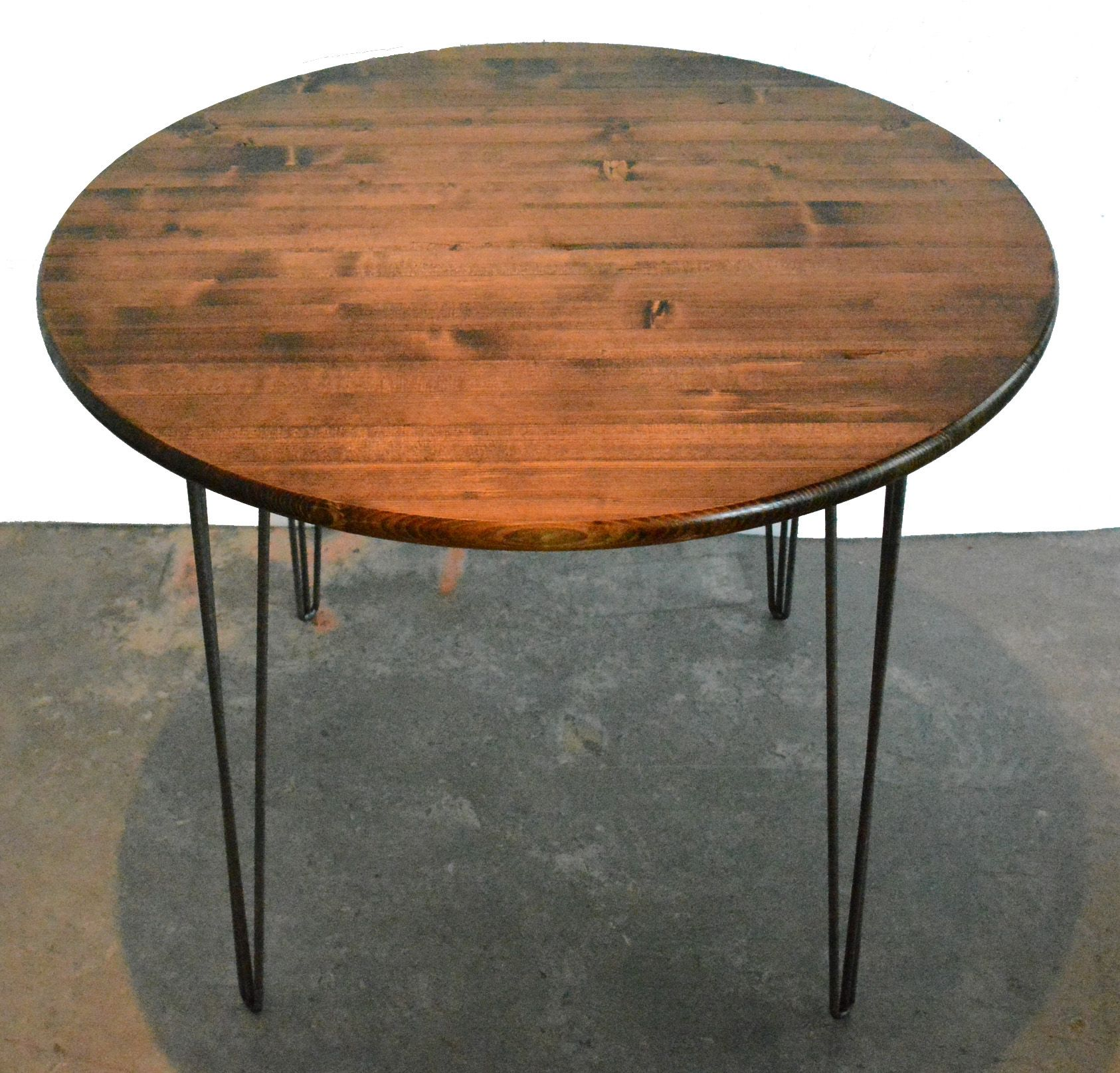 Custom Kitchen Tables: Custom Made Round Industrial Modern Kitchen Table By Grove