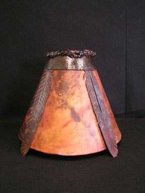 Custom Made Iron & Rawhide Lamp Shades