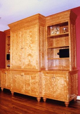 Custom Made Free-Standing Entertainment Center