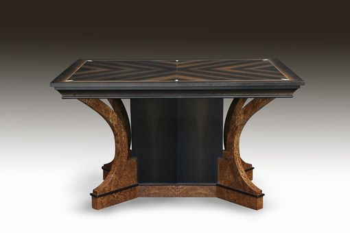 Custom Made Art Deco Bog Oak And Ivory Dining Table