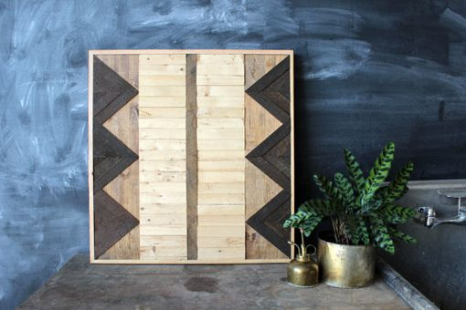 Custom Made Reclaimed Wood Geometric Wall Art Panel