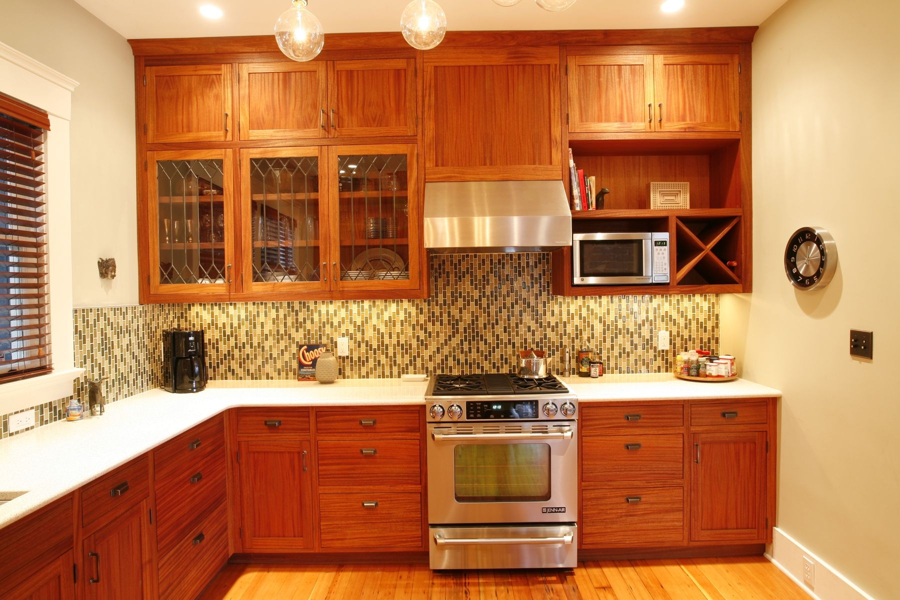 Custom African Mahogany Kitchen by Brooks Woodworks | CustomMade.com