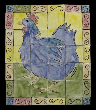 Custom Made Tile Mural : Hen