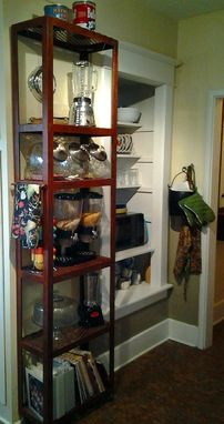 Custom Made Modern / Vintage Industrial Steel Shelving Unit