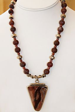 Custom Made This Dynamic Set (Necklace And Earrings) Are Made Of Apache Jasper