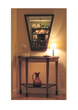 Custom Made Console Table And Mirror