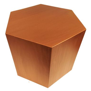 Custom Made Hexagon Wood Modern Geometric Table- Copper