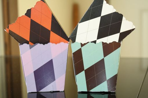 Custom Made Custom Mini Argyle Design Favor Boxes