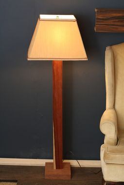 Custom Made Modern Wood Lamp