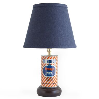 Custom Made Vintage Mission Orange Drink Can Lamp