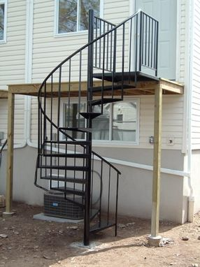 Custom exterior spiral staircase installation included - Exterior metal spiral staircase cost ...