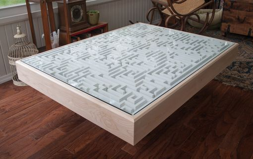 Custom Made Modern Coffee Table With Built-In Maze