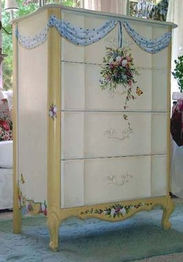 Custom Made Hand Paiinted French Dresser