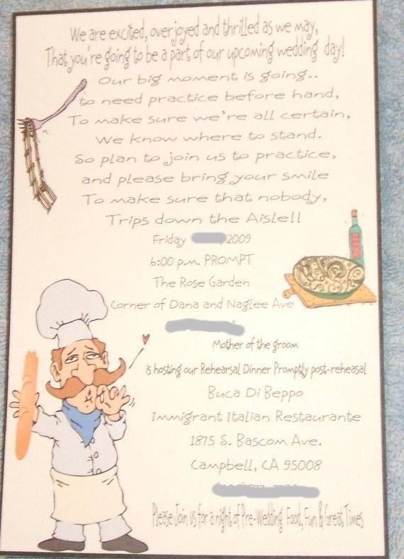 handmade 50 custom designed rehearsal dinner invitations with