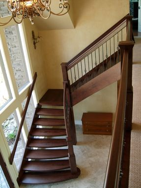 Custom Made Hickory Staircase