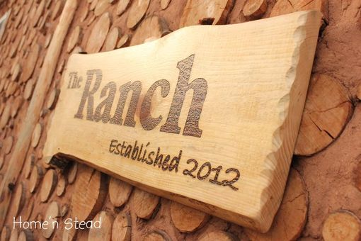 Custom Made Large Woodburned Sign