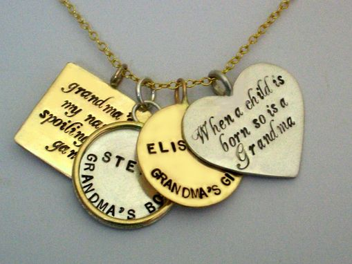 Custom Made Life Story Hand Stamp Necklace