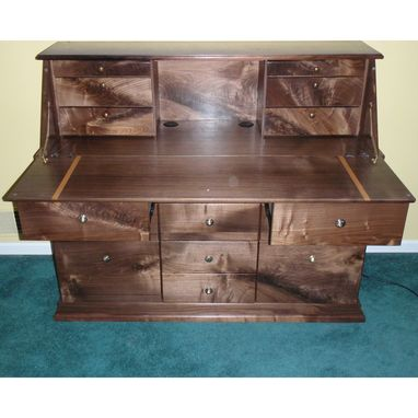 Custom Made A Secretary In Figured Walnut
