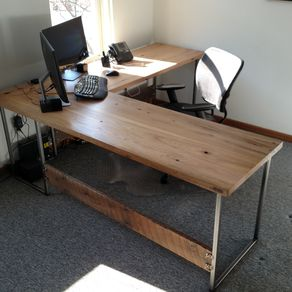 reclaimed wood office desk. Contemporary Industrial Reclaimed Wood And Steel By Daniel Chase Office Desk