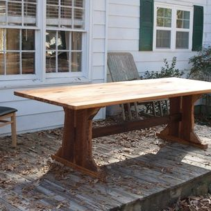Heart Pine Dining Room Table By