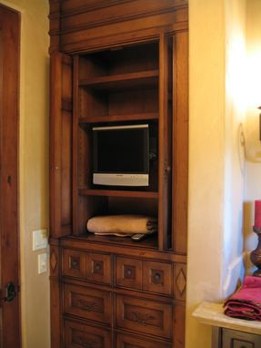 Custom Made Custom Alder Built-In Armoire