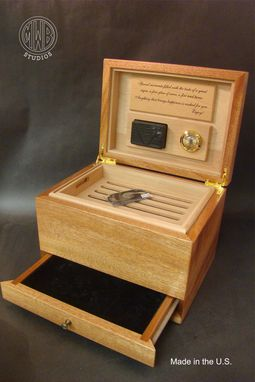 Custom Made Handcrafted Inlaid Custom Humidor With Free Shipping.