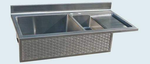 Hand Made Stainless Sink With Drainboard Amp Woven Apron By