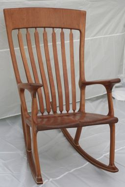 Custom Made Cherry Rocking Chair - Shipping Included