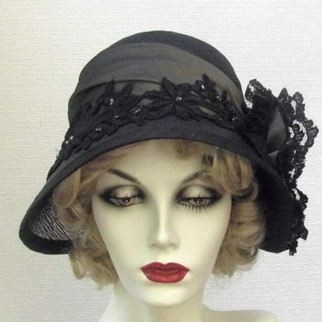 Hand Made Couture Vintage Style Cloche Women s Hat by Gail s Custom Hats  b247e45b04e
