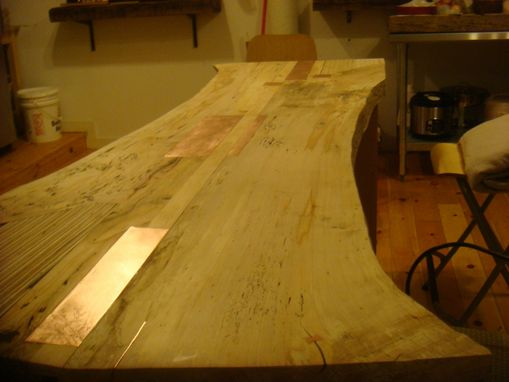Custom Made Book Matched Northern Spalted Maple Dining Table
