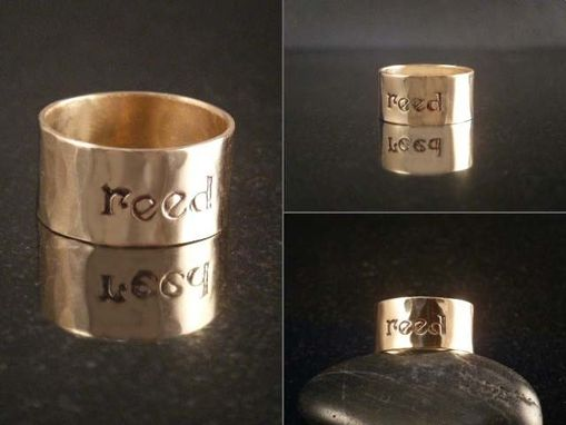 Custom Made Set Of Stacking Rings With Hand Stamped Initials