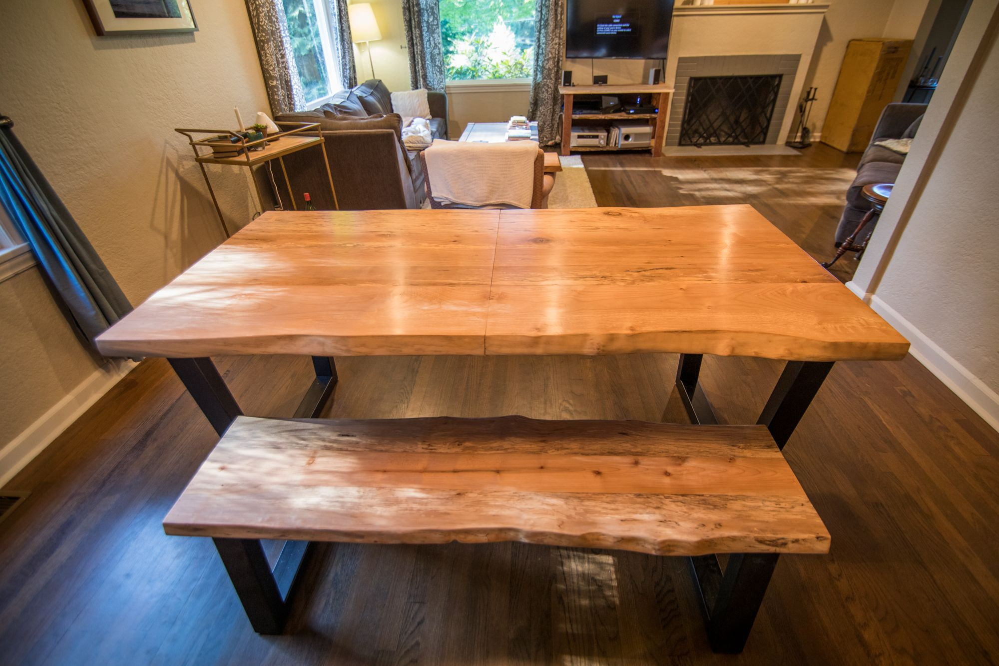 Mobi Descargar Custom Live Edge Dining Table And Bench By
