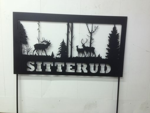 Custom Made Personalized Metal Yard Sign