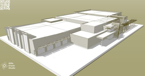 Custom Made Digital Modeling- Rifle Recreation And Community Center