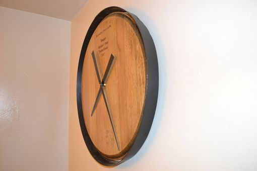 Custom Made Wine Barrelhead Clock