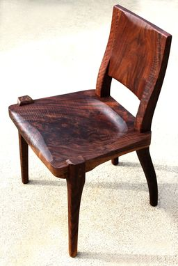 Custom Made Modern Dining Chair, Claro Walnut Figured