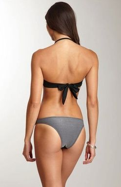 Custom Made St- Barth Black-Grey Trikini- Hand Made Monokini- One Piece Swimsuit