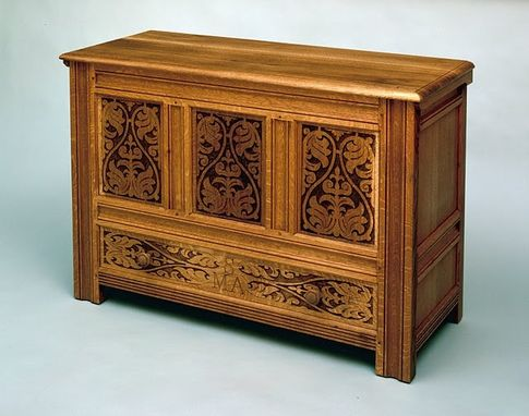 Custom Made Carved Frame And Panel Blanket Chest
