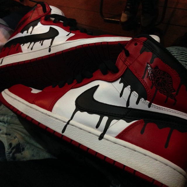 Buy A Hand Made Drip Air Jordan 1 Chicago Custom To Order From REPOVICH APPAREL INC