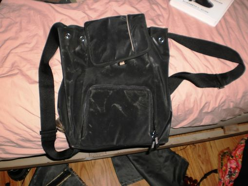 Custom Made Backpack Purse