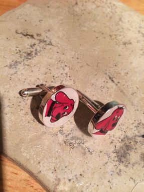 Custom Made Sterling Silver And Resin Cuff Links