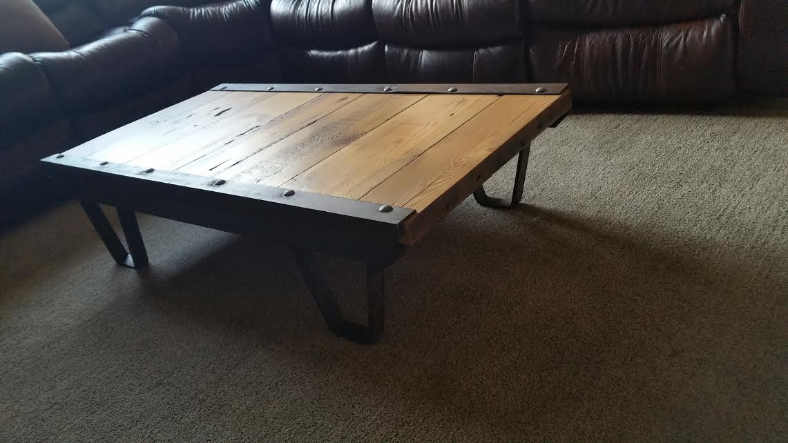 Buy A Custom Barn Wood Industrial Rustic Coffee Table Made From