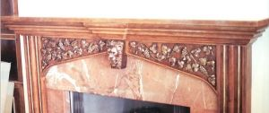 Custom Made Lion And Grape Vine Fireplace