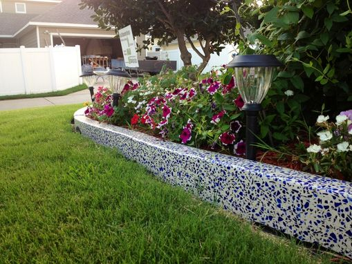 Custom Made Blue Glass Garden Edgers!